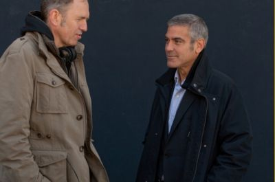 george clooney coat in the american