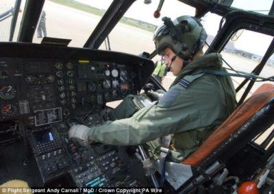 prince william wearing pilot uniform