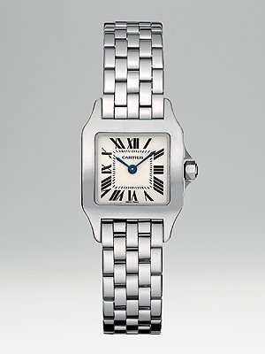 celebrities wearing cartier watch santos demoiselle