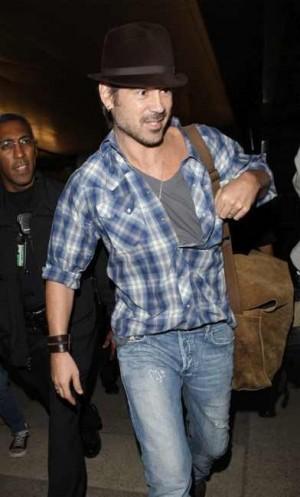 Hot Male Celebrities Wearing Jeans Colin Farrell in Diesel