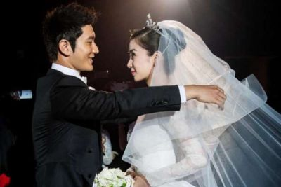 Huang Xiaoming wedding to wife angelababy