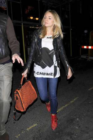 celebrities wearing burberry leather jacket sienna miller