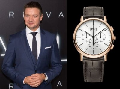 celebrities wearing piaget watches - jeremy renner