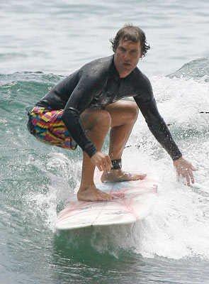 celebrity surfers - matthew mcconaughey