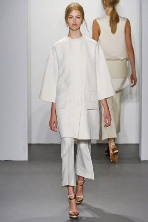 Celebrity White Dress nyfw ck runway