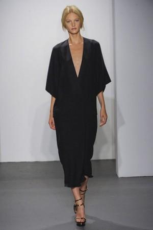 Calvin Klein Black Dresses NY Fashion Week