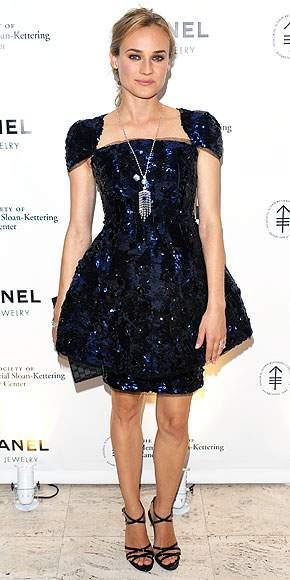 chanel blue dress for girls diane kruger