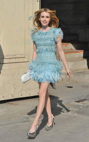 blue dress for girls emma roberts