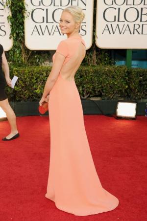 backless dress for girls emma stone calvin klein