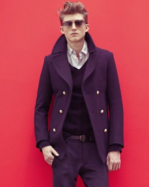 pea coats for men balmain