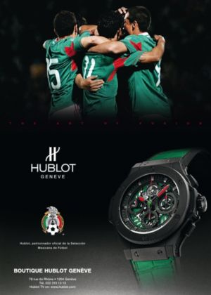 hublot mens watch mexico football tean