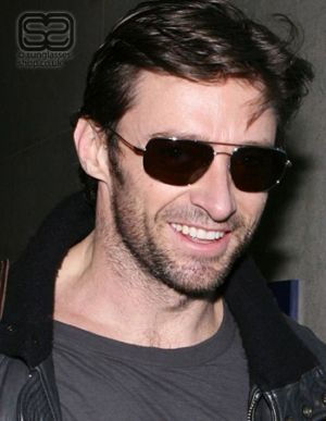 celebrity ray-ban aviator hugh jackman