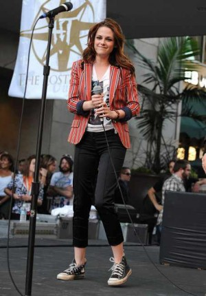 Celebrities Wearing Gucci Jackets kristen stewart
