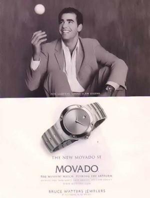 movado watches for men - pete sampras