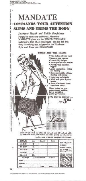 mens slimming underwear vintage