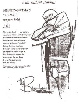 vintage mens slimming underwear