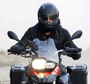 brad pitt bmw f800 motorbike