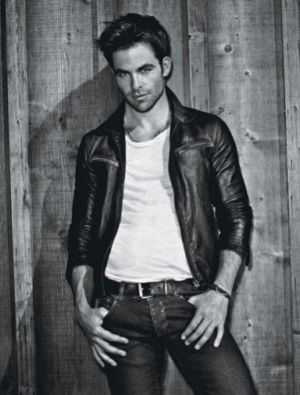 Celebrities Wearing Prada Leather Jacket chris pine