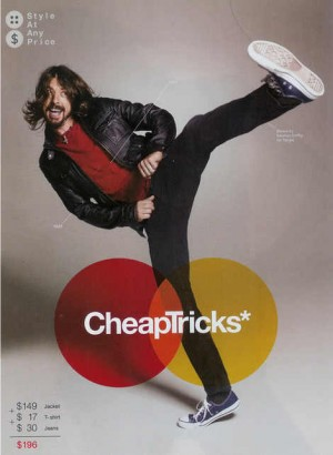 Celebrities Wearing Gap shirts dave grohl