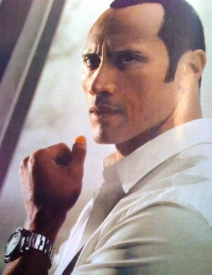 celebrities wearing panerai watches - dwayne johnson