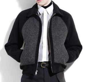 wool jacket for men. marc jacobs wool jacket with cashmere coating