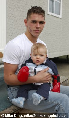 boxer billy joe saunders with baby boy