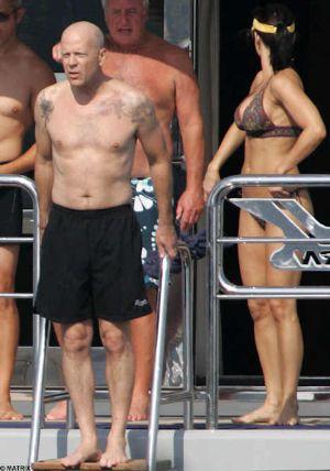 swimsuit for older men - bruce willis