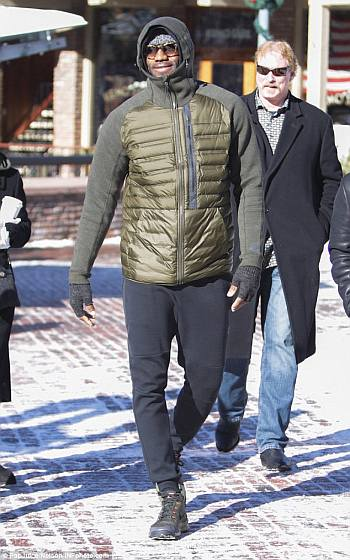 celebrities wearing nike winter jackets - lebron james