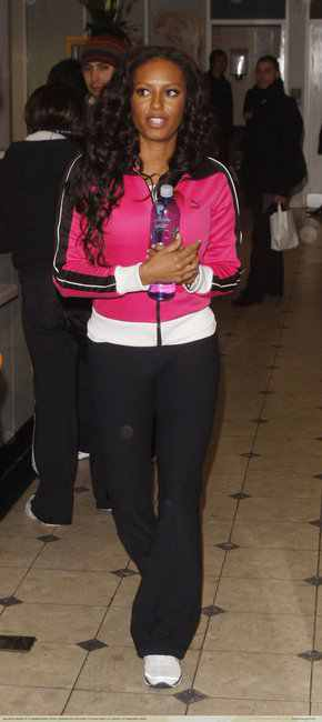 celebrities wearing puma sports jackets Mel B
