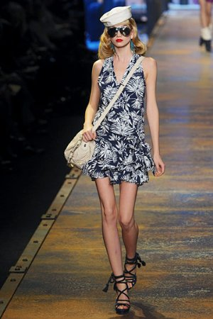 flowery dress by christian dior spring 2011 ladies wear collection