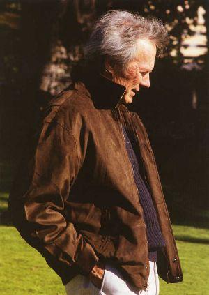 old men leather jacket clint eastwood