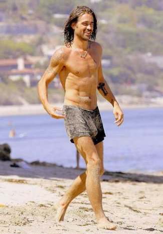 colin farrell boxer shorts underwear - beach pics