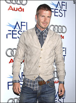 male celebrities wearing cardigans beckham