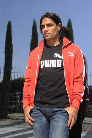 celebrities wearing puma sports jackets radamel falcao