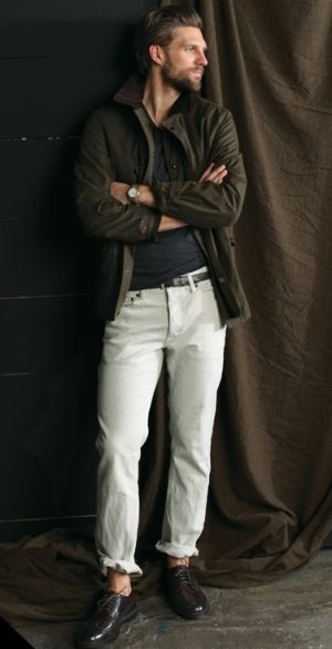 jcrew white pants for men. jacket for fall and winter season