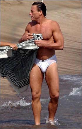 hot swimsuit for older men - van damme
