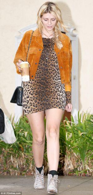 mischa barton fashion style. leopard print dresses for celebrities. minidress for women