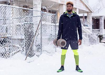 nike winter jackets - snow day - odell beckham