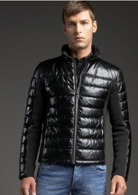 celebrities wearing prada leather jackets nappa quilted