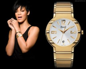 piaget ladies gold watch rihanna