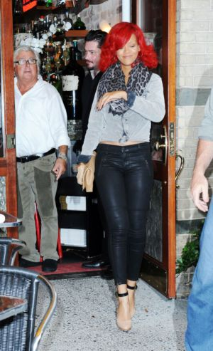 Tight Leather Pants for Girls Rihanna