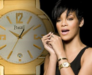 ladies gold watch by piaget for rihanna