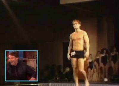 seann william scott underwear model runway - ellen show2