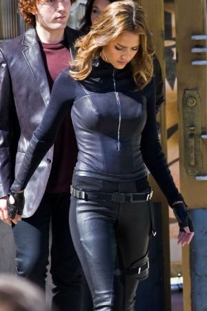 tight leather suit for girls. jessica alba leather. female celebrities wearing leather