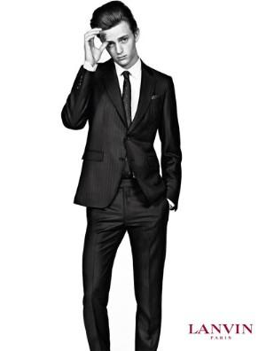 lanvin suits for men - slim suit on alex dunstan