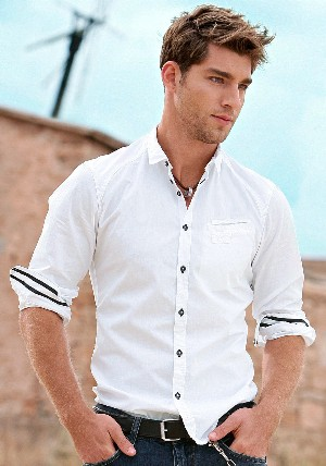 white shirts for men - slim otto menswear