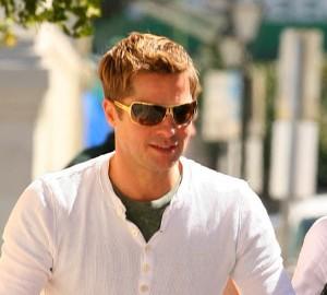 Prada 54Hs sunglasses on brad pitt - celebrities wearing prada eyewear