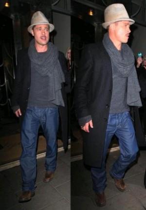 celebrities wearing rag and bone menswear - brad pitt jeans