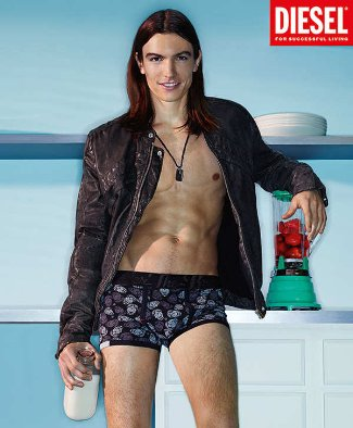 Diesel mens underwear model Ian Mellencamp