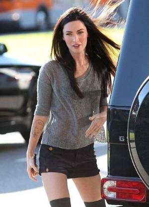 celebrity short shorts jeans megan fox